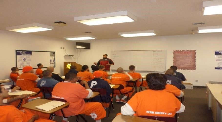 Inmates in a classroom environment