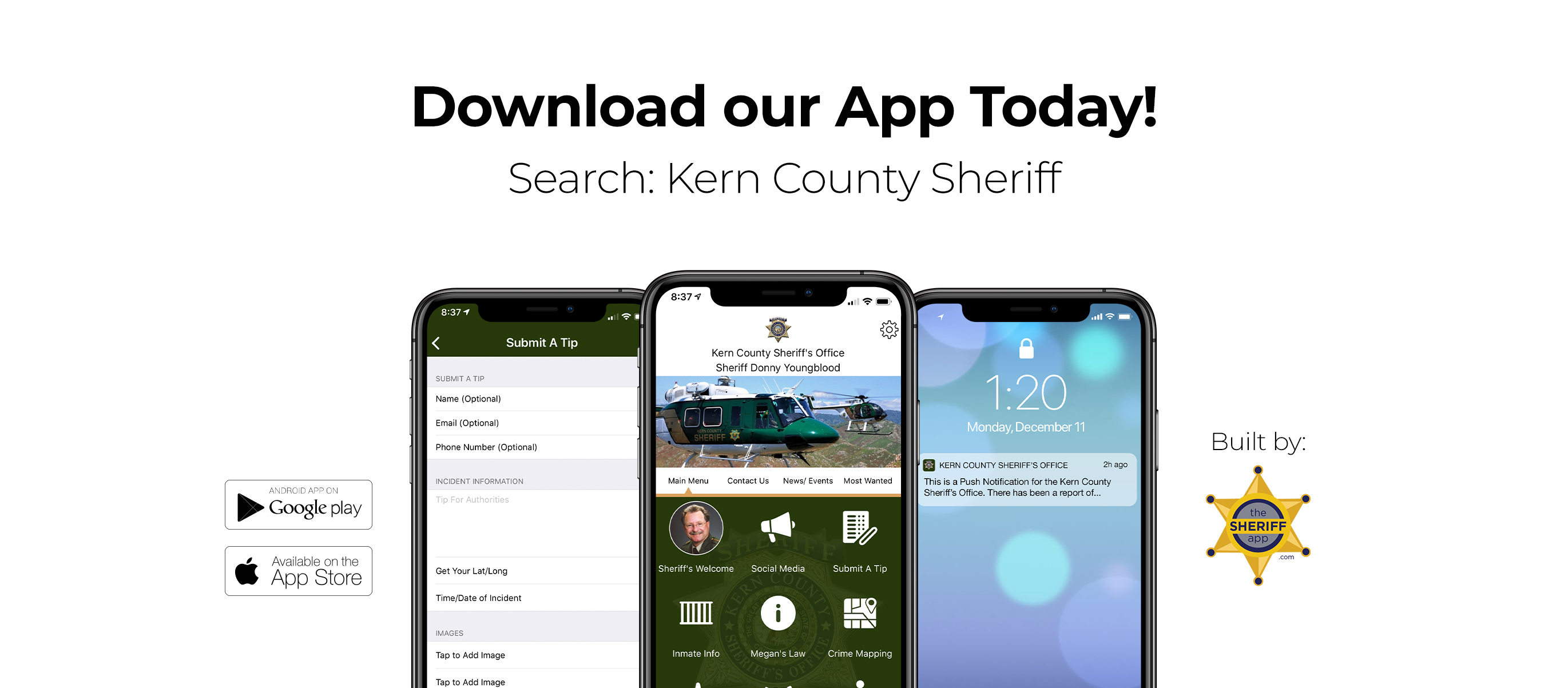 Kern County Sheriff's Mobile Application Photo