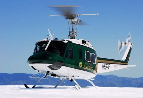 Kern County Sheriff's Helicopter Landing on Snowie Ground