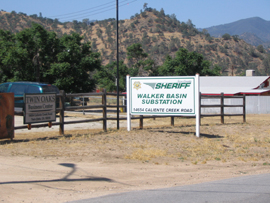 Walker Basin Substation Sign